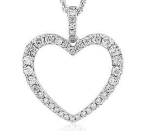 Diamond Open Heart Pendant from Blue Nile