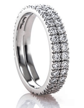 Double Novela Platinum Eternity Ring from Brian Gavin