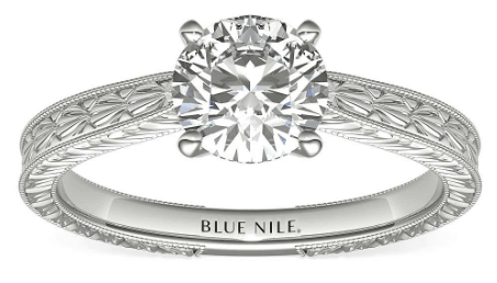 Hand-Engraved Solitaire Setting