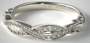 Pavé Crossover Wedding Band