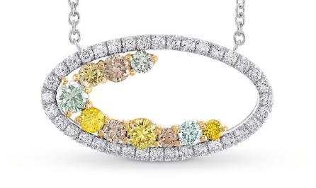 Leibish Inspire Pendant with 0.82ctw Mixed-Color Diamonds