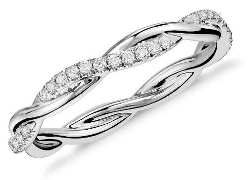 Petite Twist Diamond Eternity Ring from Blue Nile