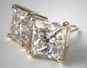 Princess Cut Stud Earrings from James Allen