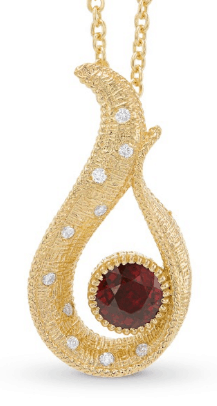 Pigeon Red Ruby Drop Pendant from Leibish