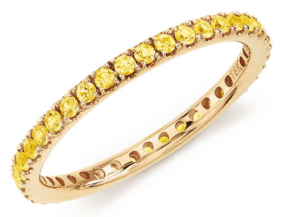 Riviera Pavé Yellow Sapphire Eternity Ring from Blue Nile