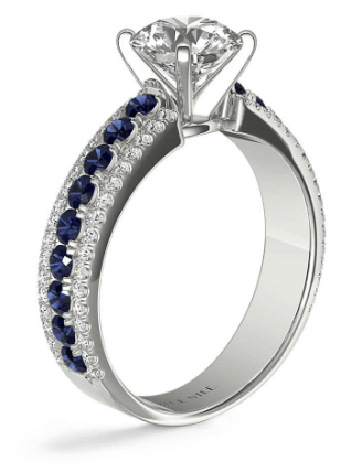 Three Row Sapphire and Diamond Ring From Blue Nile