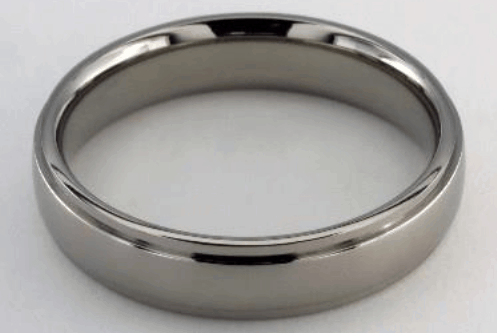 5mm Titanium Comfort Fit Stepped Edge Wedding Rings from James Allen