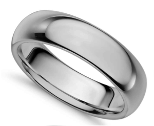 6mm Tungsten  Carbide Comfort Fit Wedding Band from Blue Nile