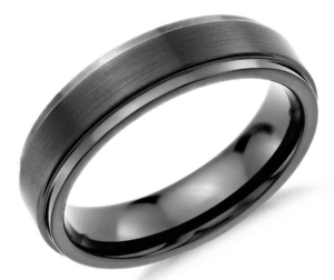 Tungsten Carbide Wedding Ring by Blue Nile