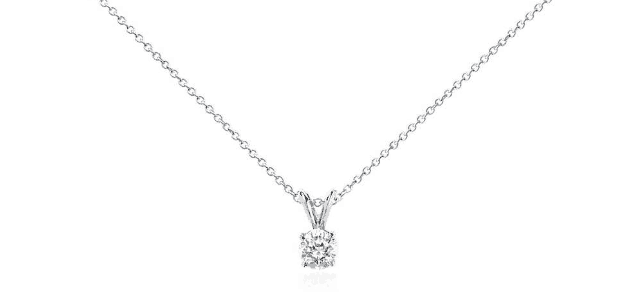 3/4 ctw Diamond Solitaire Pendant from Blue Nile