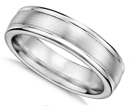 6mm Brushed Inlay Cobalt Wedding Ring from Blue Nile