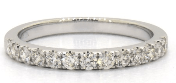 14K WHITE GOLD MICRO PAVE DIAMOND WEDDING RING