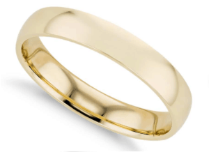 4mm Comfort Fit Wedding Ring in 14K Yellow Gold from Blue Nile