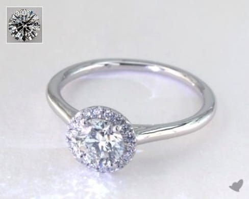 $2,500 halo engagement ring