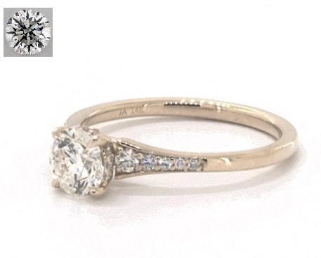Yellow gold Pavé engagement ring for $2,000