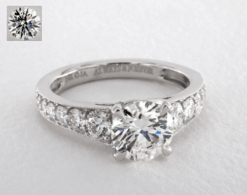 SIde-Stone Engagement Ring for $10,000