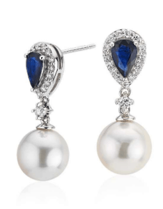 Classic Akoya Cultured Pearl Drop Earrings
