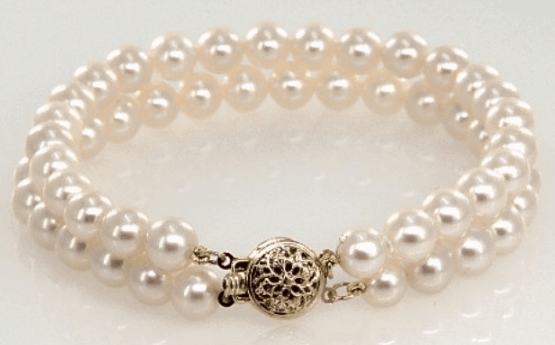 Freshwater Cultured Pearl Double Strand Bracelet