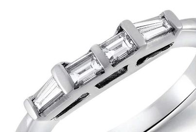 Classic Tapered Baguette Diamond Ring