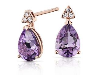 Pear-Shaped Amethyst Earrings