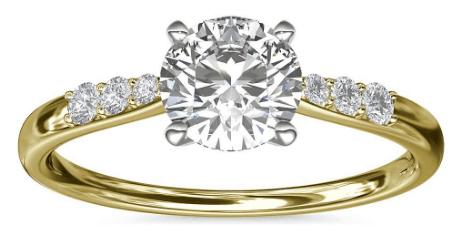 Petite Diamond Engagement Ring