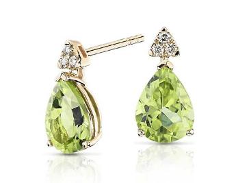 Pear-Shaped Peridot Earrings