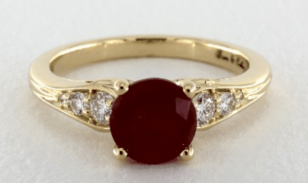 2.05ct Ruby Ring in Yellow Gold