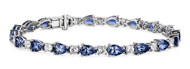 Tanzanite & White Sapphire Bracelet