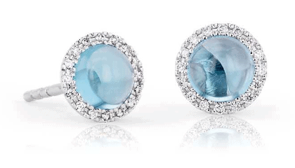 Petite Swiss Blue Topaz Earrings