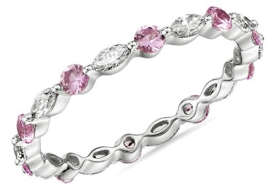 Pink Sapphire Eternity Ring