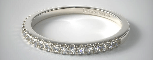Single Row Diamond Wedding Ring