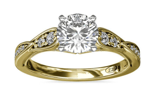 Vintage Milgrain Diamond Engagement Ring Setting