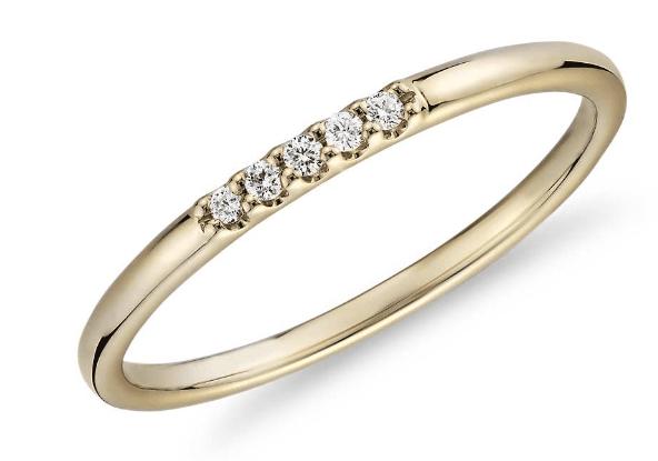 Ultra Mini Diamond Pave Stackable Fashion Ring