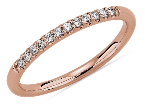 Petite Micropave Diamond Wedding Ring