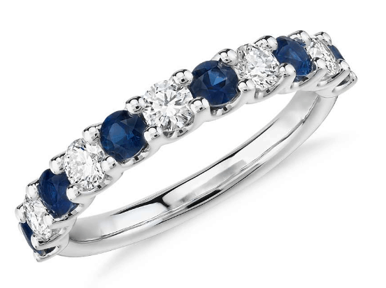 Luna Sapphire and Diamond Ring