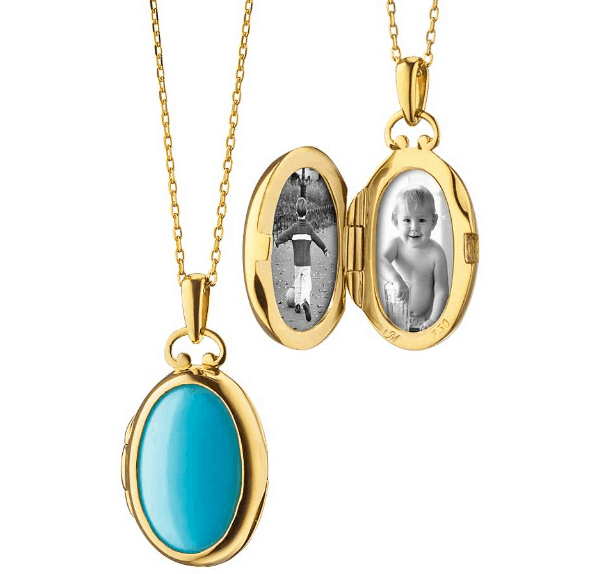 Petite Turquoise and Mother of Pearl Locket