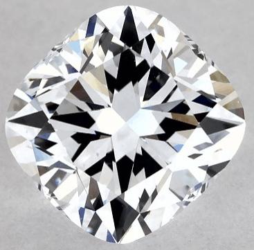 lab-created diamond cushion