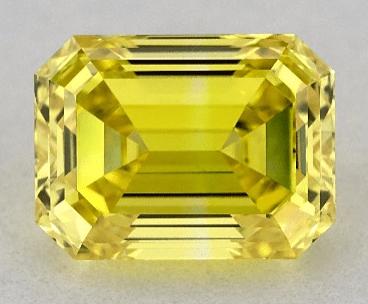 Lab-created yellow emerald diamond