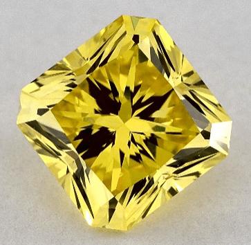 Lab-created yellow diamond radiant