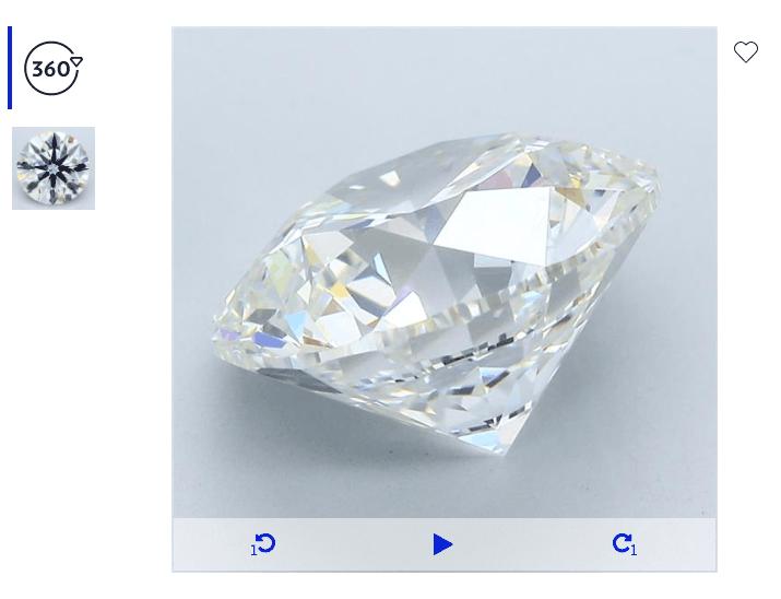 10 carat round diamond