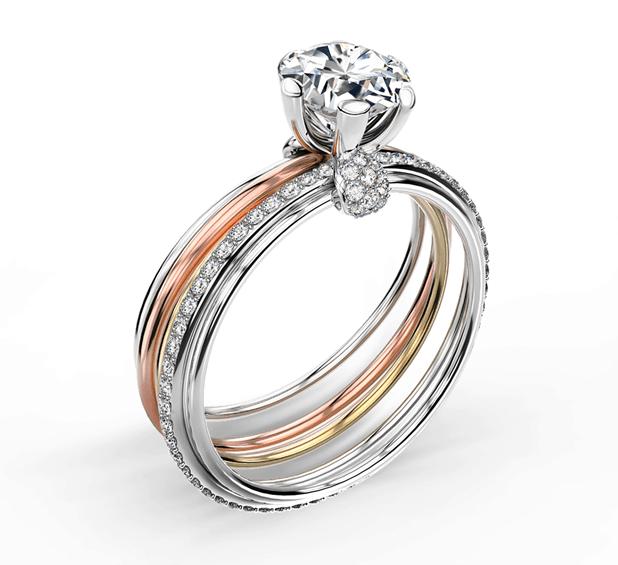 Forevermark Millemoi Pavé Solitaire Ring Setting