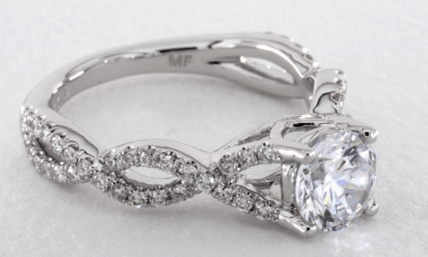 Pavé Infinity Engagement Ring By Martin Flyer