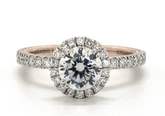 Verragio halo ring setting