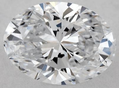 0.60ct lab-created oval cut diamond