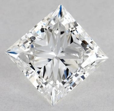 0.90ct Princess cut Lab-created diamond