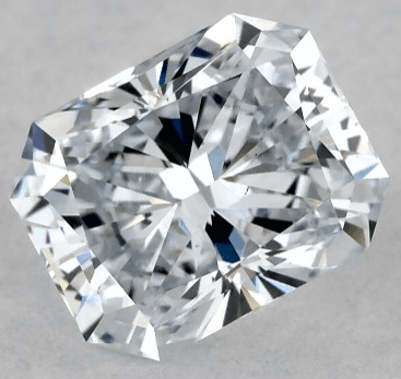 0.72ct lab-created radiant cut diamond