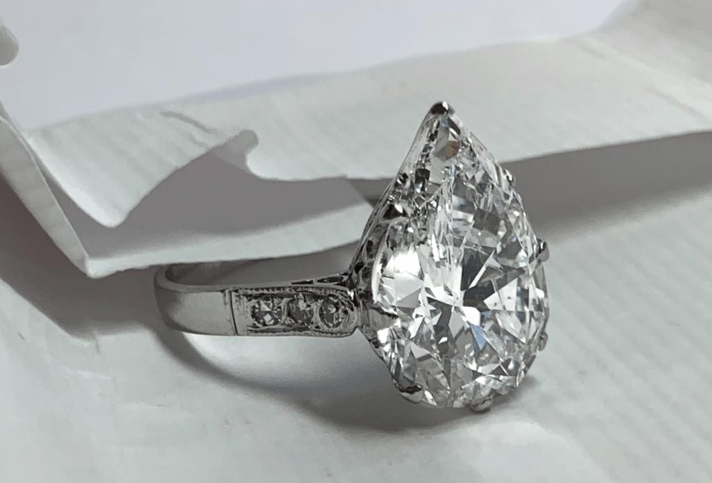 6.29ct E VS2 Pear Shape Diamond from Abe Mor