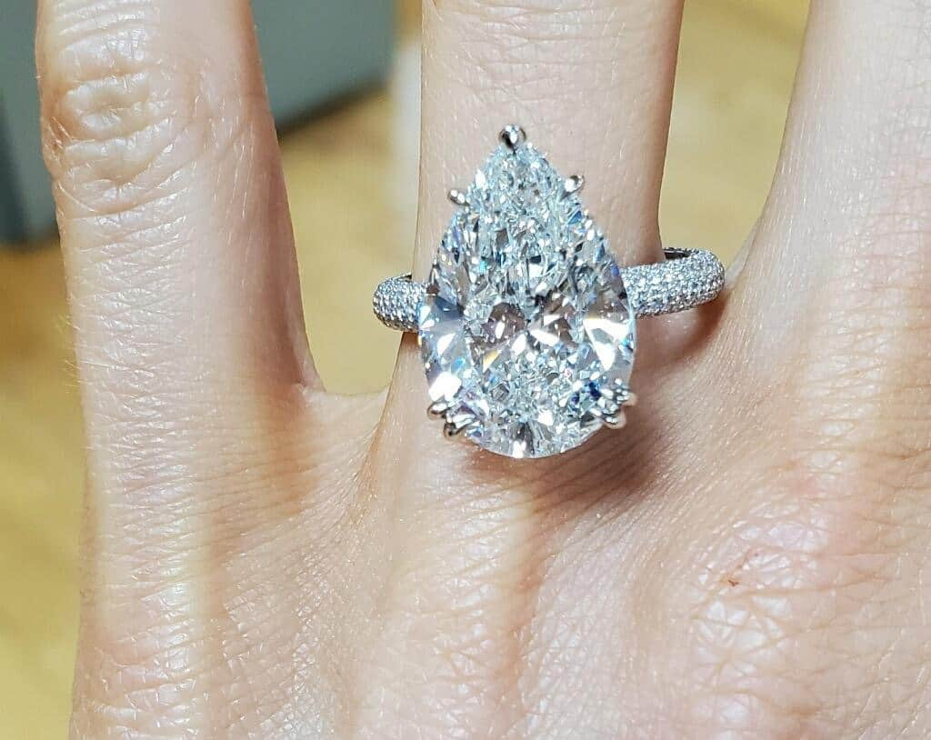 8ct H VS2 Pear Shape Diamond from Abe Mor