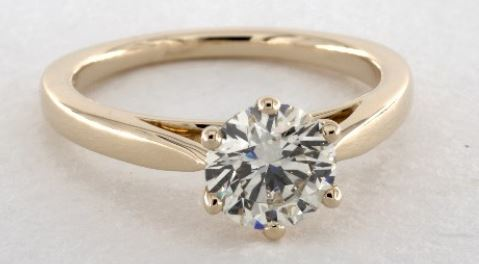 K color diamond ring
