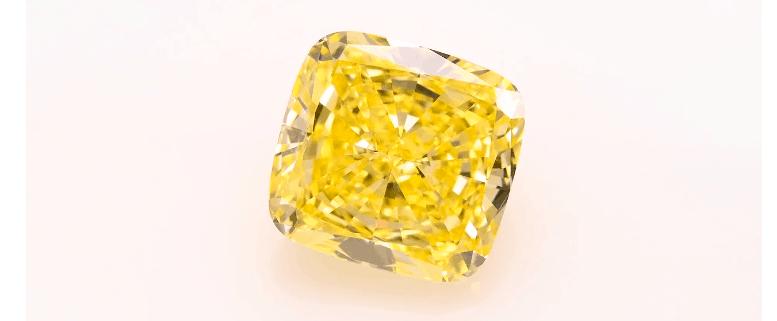 10 carat Fancy Intense Yellow cushion Diamond